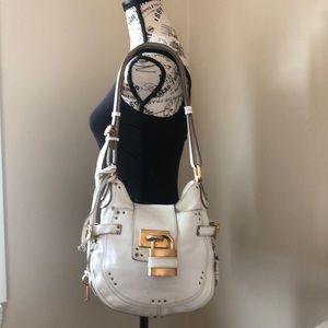 Vintage leather Chloe lock and key handbag